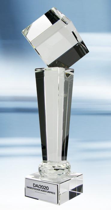 Award Pokal für die Gewinner - Deutscher Agenturpreis