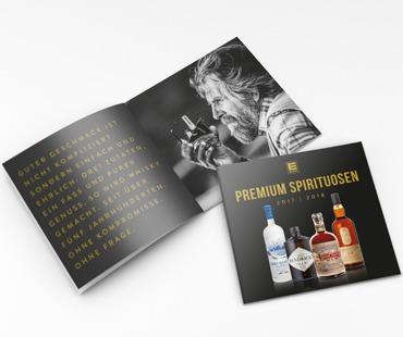 brochure quadrat mockup edeka spirituosen